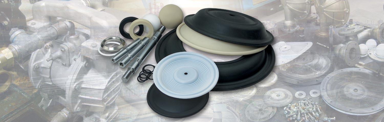 Peças de reposição para bombas pneumáticas de diafragma